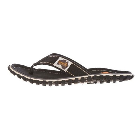 Japonki GUMBIES ISLANDER CANVAS FLIP-FLOPS black
